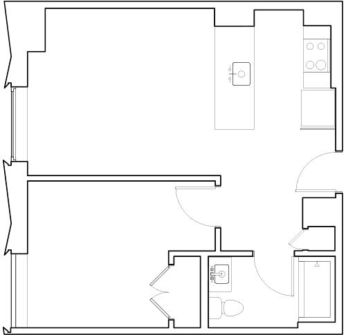 Grad Tower One Bedroom Unit