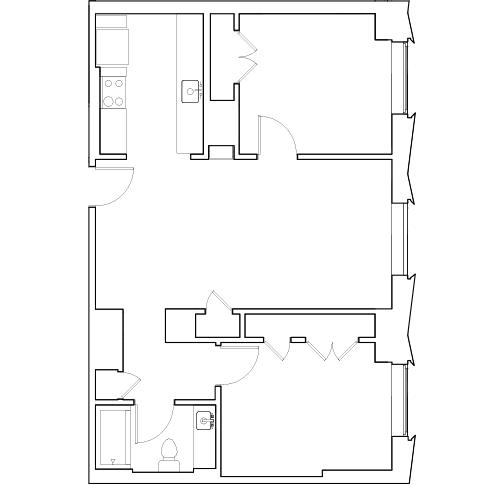 Grad Tower Two Bedroom Unit